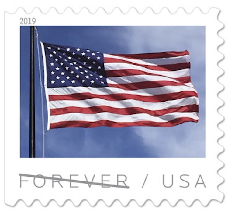 how much are the forever stamps 2019