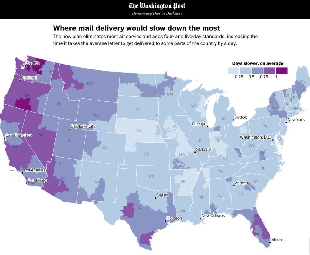Reply to the USPS: How the new service standards will cause geographic discrimination