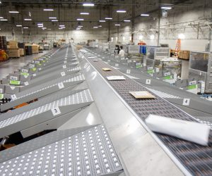 A tour of the new USPS package sorting machine